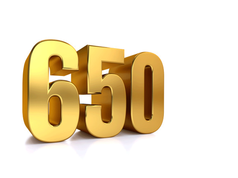 The number 650 represents the number of diverse stakeholders in the initiative.